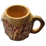 """Деревянная пивная кружка из карельской березы """"Тролль"""""""
