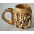 Деревянная пивная кружка из карельской березы