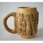Деревянная пивная кружка из карельской березы Оригинальная кружка для пива